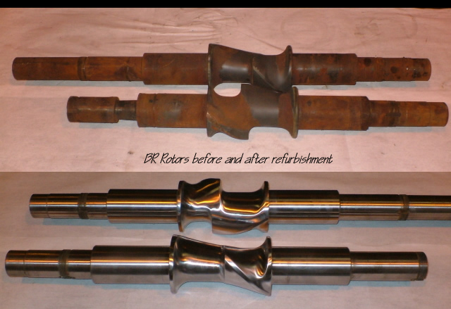 Mixer Shafts Before and After