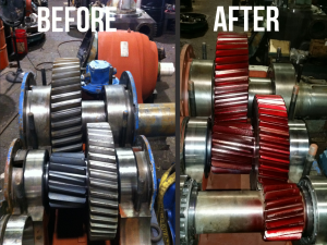Before - After Flender Gears for Flender Gearbox Repair
