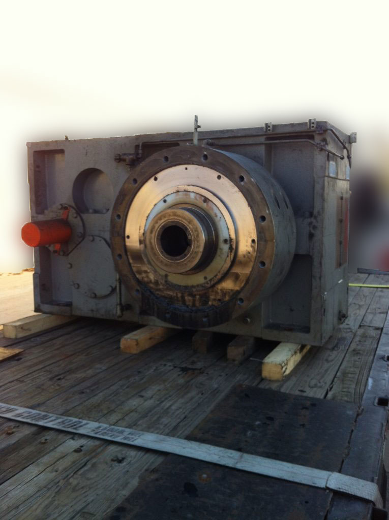 Before- 20000 LB Zambello Extruder Gearbox Repair